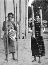 MADAGASCAR. Betsimisaraka Water-Carriers;  1900 old antique print picture